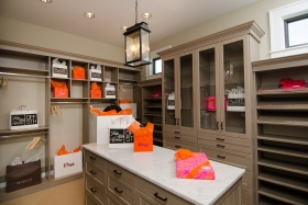 Driftwood Master Walk-In Closet With Island