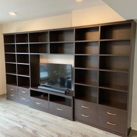 Entertainment-Center-Built-in-Wall-Unit