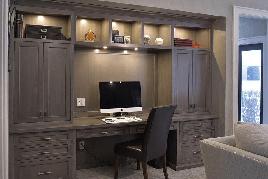 Custom Home Office Desk Ideas from portlandcloset.com