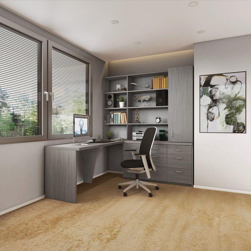 Custom Home Office Design Ideas from portlandcloset.com