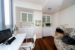Built-In White Cabinets