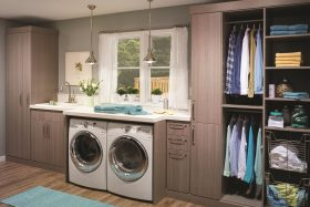 Driftwood Laundry Cabinets