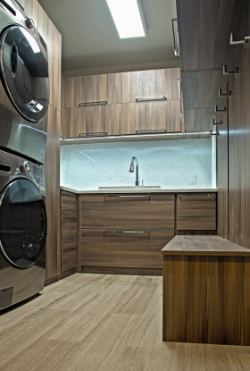 Modern-Laundry-Room-Brown