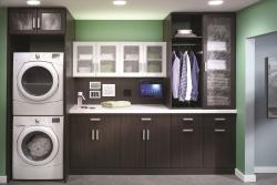 Dark Laundry Cabinets
