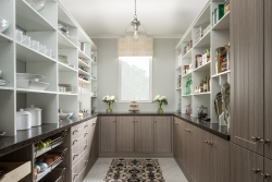 Custom White Wood Pantry