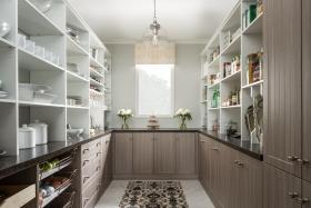 Custom White Wood Pantry