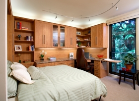 Home-Office-Wall-Bed-Cherry-Finish-Open