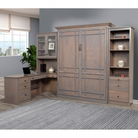 Home-Office-Wall-Murphy-Bed-Wood-Color-Closed