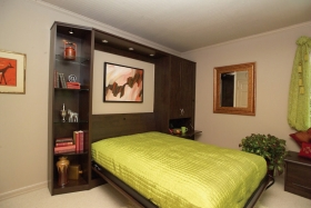 Wall-Bed-with-Side-Cabinets-Belgian-Chocolate-Open