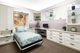 White-Home-Office-Wall-Murphy-Bed-Open