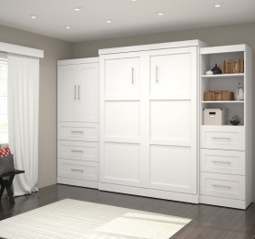 White-Wall-Murphy-Bed-with-Side-Cabinets-and-Storage-Closed