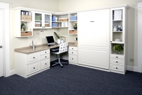 White Home Office with Murphy Bed