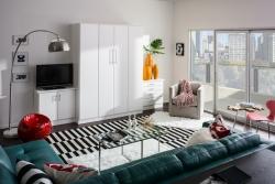 White Murphy Bedroom