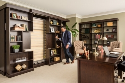 Sliding Bookcase Murphy Bed Process