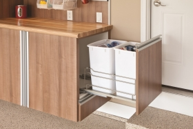 Chateau Cabinets with Recycling Pull-out