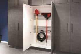 Platinum Cabinets Interior Featuring Slat Wall