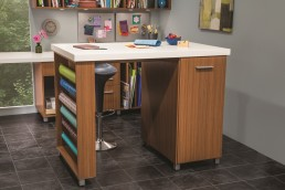 Craft Room Storage Island