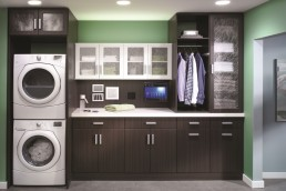 Laundry Room Cabinets Dark
