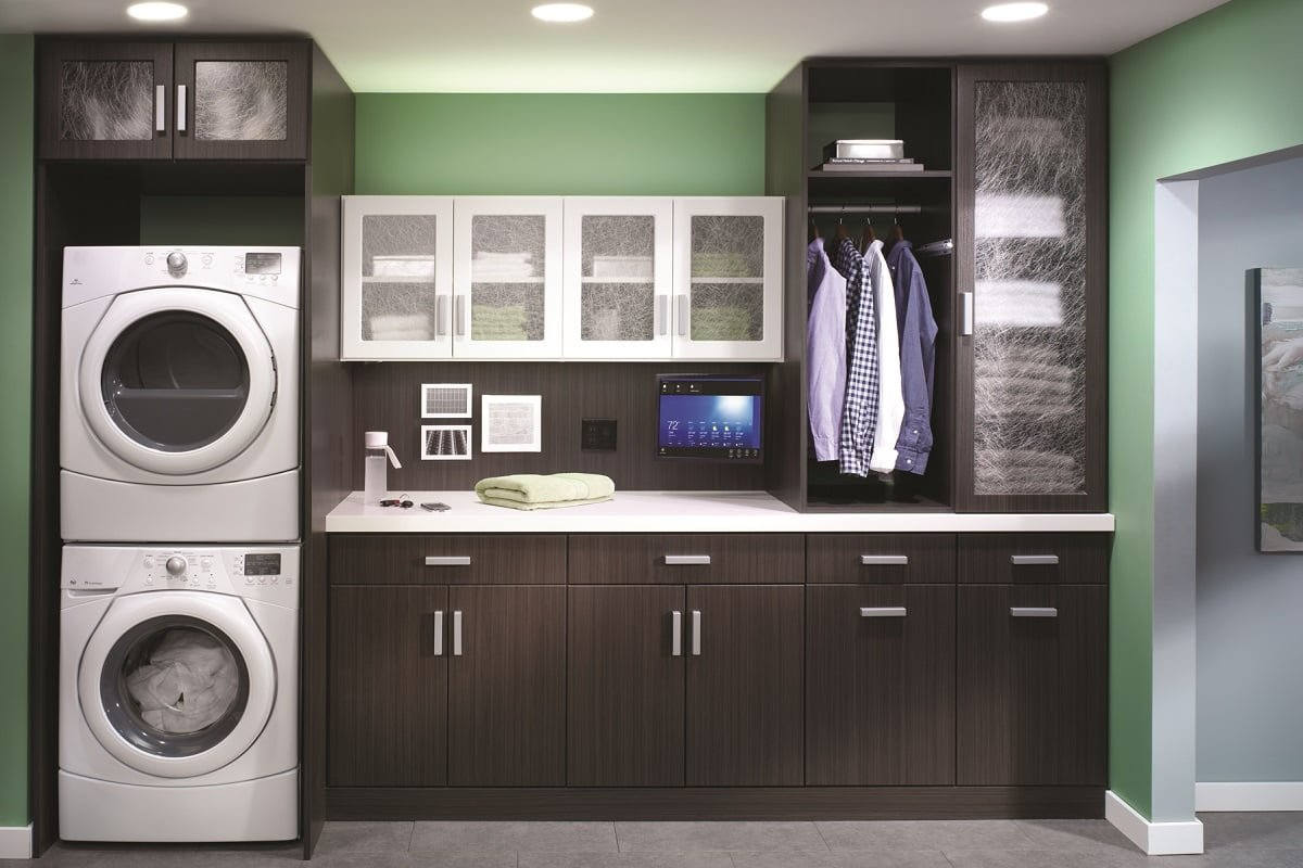 Laundry room cabinets black - Laundry Room Cabinets Dark