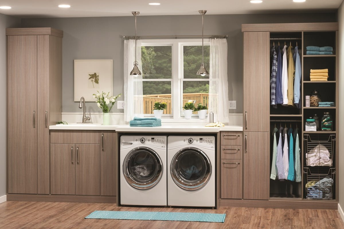 Custom laundry and utility rooms portland closet company for How to add a laundry room to your house