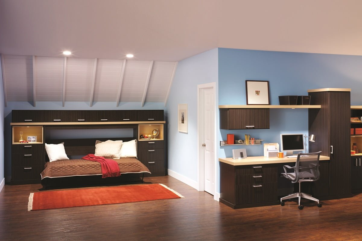 Murphy Bed With Home Office : Custom closets offices wallbeds portland closet