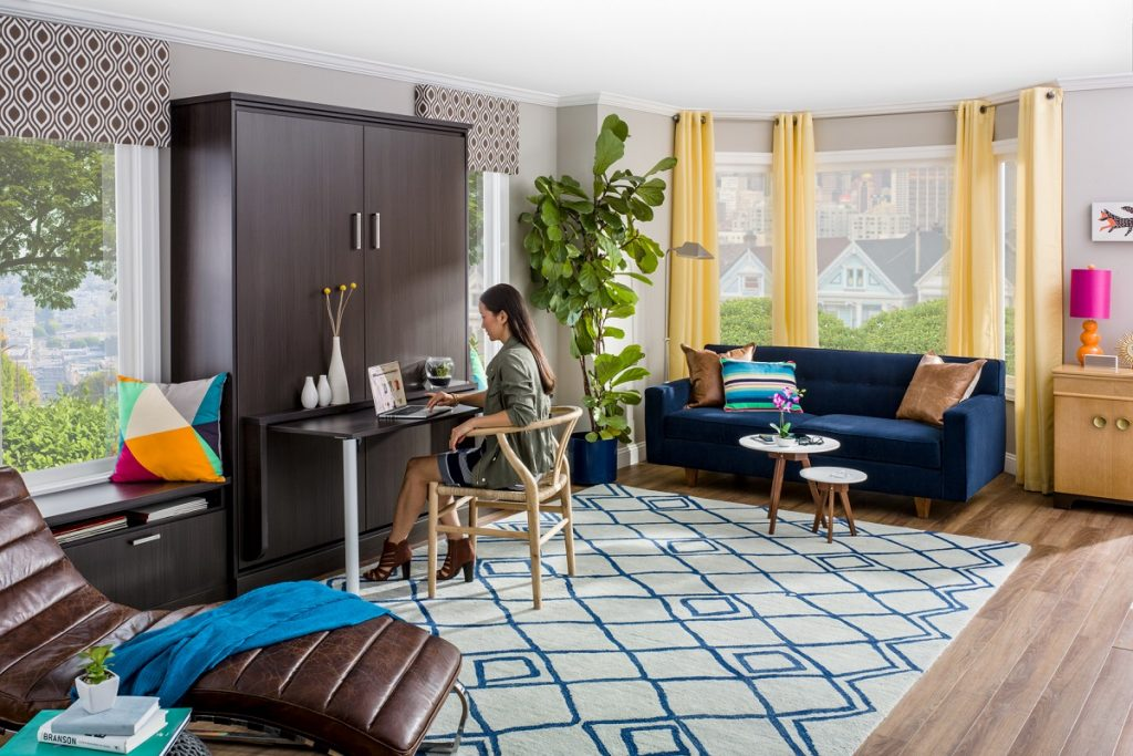 Murphy Bed with Flip-Up Desk