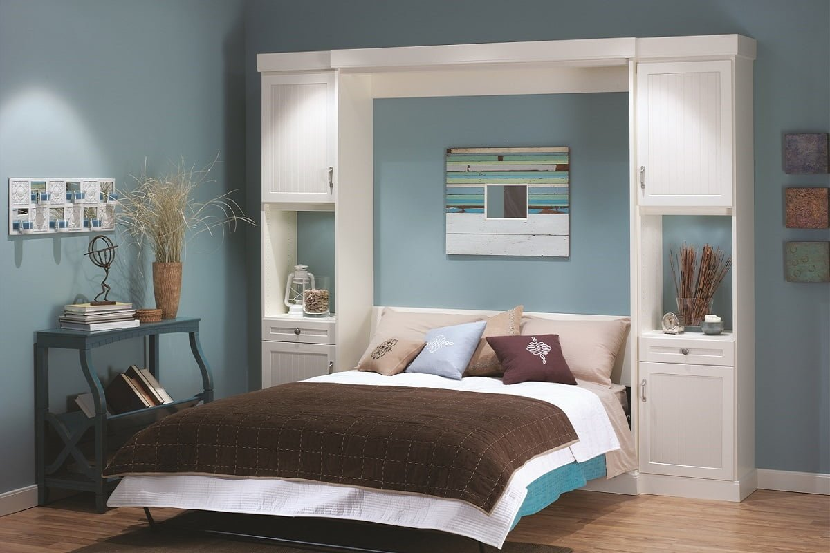 Custom wall beds and storage systems portland closet company white murphy bed amipublicfo Images