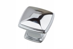 1288 Chrome Square Knob