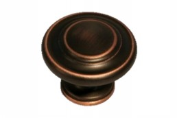 1308 Antique Copper Circle Knob