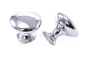 9878 Polished Chrome Diecast Knob