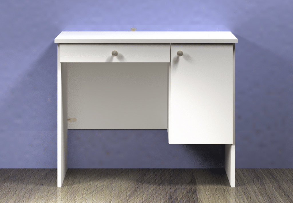 Children's Desk Portland Or - Pencil Drawer and Hinged Door - Option 4