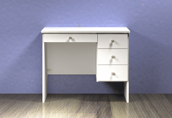 Kids Desk Three Drawers and Pencil Drawer - Option 6